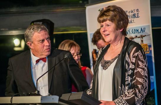 Jenolan Caravan Park owners Bob and Sally Parrington took out the Tourist & Caravan Parks award. Photo: David Hill, Blue Mountains Lithgow & Oberon Tourism